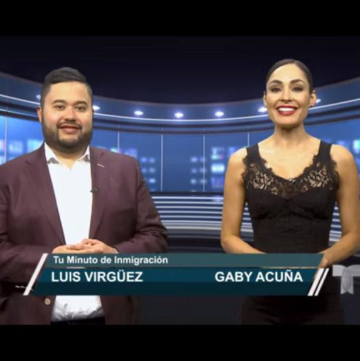 Luis Virguez on Telemundo with Gaby Acuna